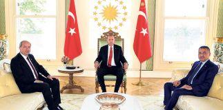 Cumhurbaşkanı Erdoğan Başbakan Tatar'ı kabul etti