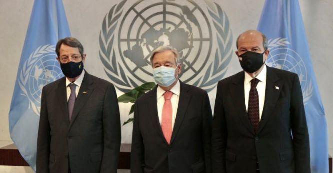 """Liderlerin Guterres ile yaptığı görüşme Rum basınında: """"İlerleme yok"""""""
