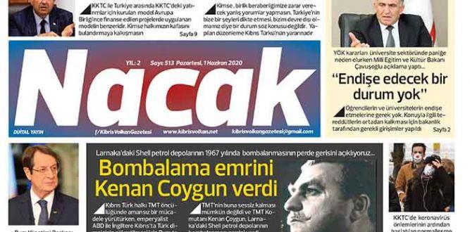 1 Haziran 2020 NACAK Gazetesi