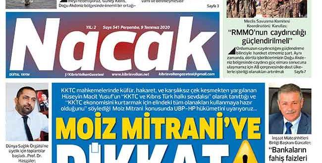 9 Temmuz 2020 NACAK Gazetesi