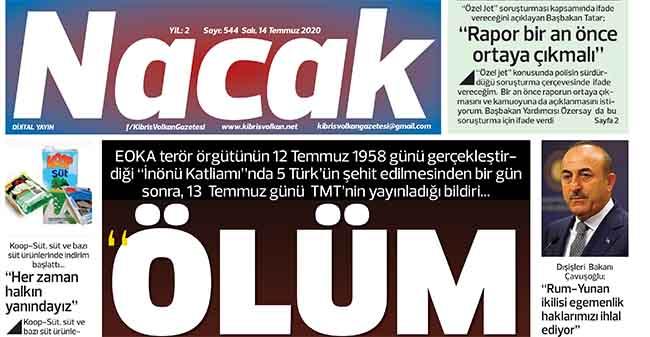 14 Temmuz 2020 NACAK Gazetesi