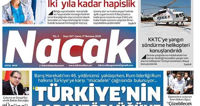 17 Temmuz 2020 NACAK Gazetesi