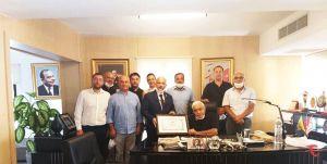Mustafa Hacı Ali'ye Onursal Üyelik Şilti takdim edildi