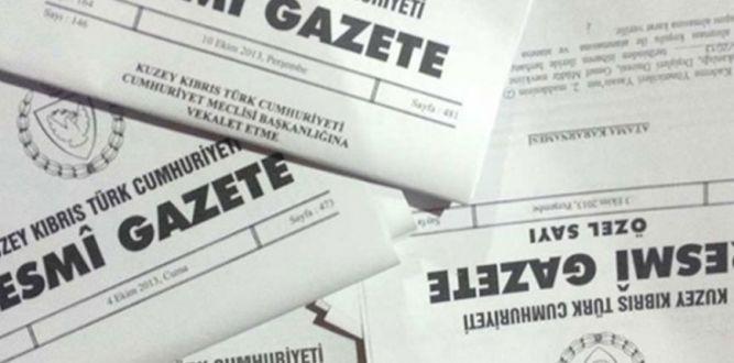 Resmi Gazete'den haberler