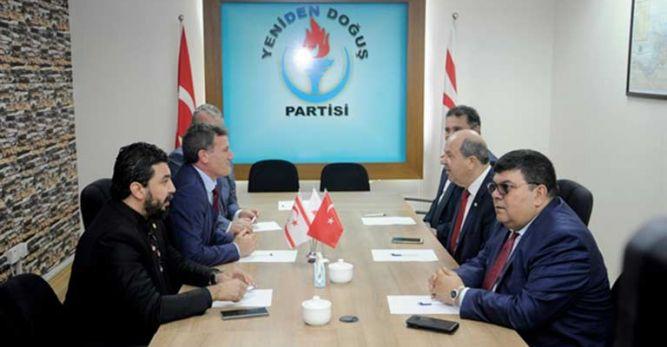 Tatar, YDP ile DP'yi ziyaret etti…  Önemli olan KKTC'nin geleceği